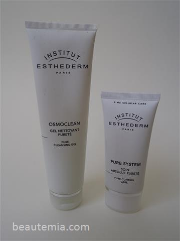Institut Esthederm Pure System Pure Cleansing Gel & Pure Control Care - Cream