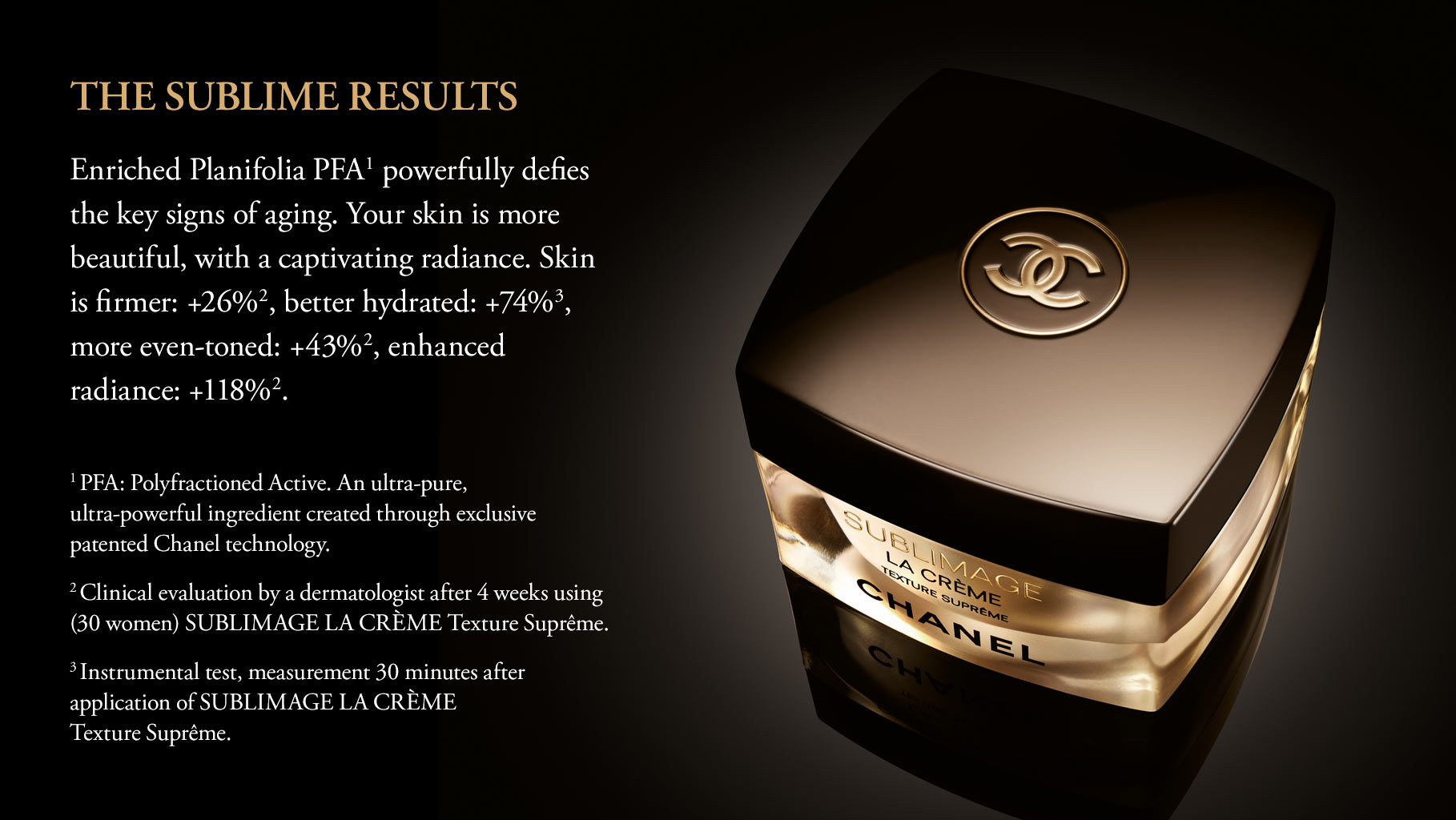 �ล�าร���หารู��า�สำหรั� Chanel Sublimage La Creme Texture Supreme