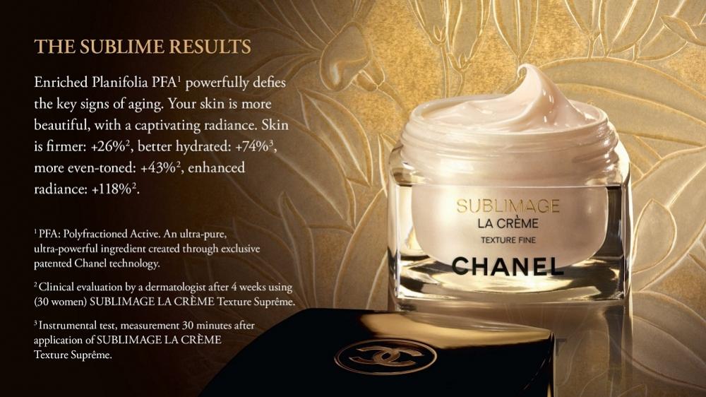 �ล�าร���หารู��า�สำหรั� Chanel Sublimage La Creme Texture Fine