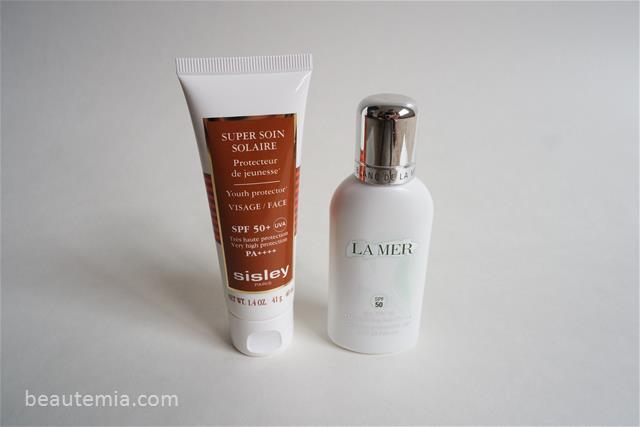 Sisley Super Soin Solaire Youth Protector SPF 50+ & Blanc de La Mer The SPF 50 UV Protecting Fluid
