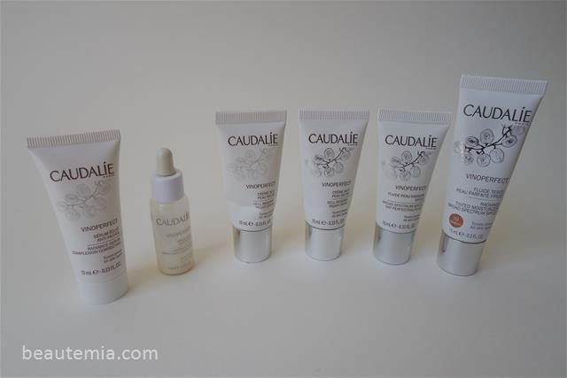 Caudalie VINOPERFECT Radiance Serum, VINOPERFECT Overnight Cell Renewal Cream, VINOPERFECT Moisturiser Broad Spectrum Fluid SPF 20 & VINOPERFECT Tinited Moisturiser SPF 20