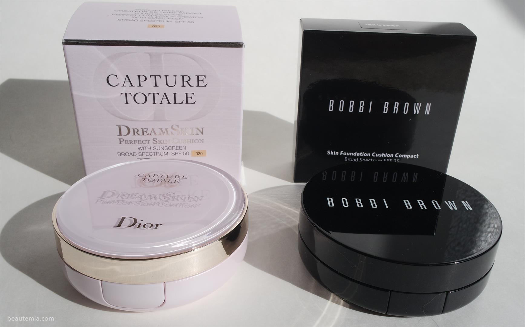 review bobbi brown skin foundation cushion compact spf 35 vs dior capture totale dream skin. Black Bedroom Furniture Sets. Home Design Ideas