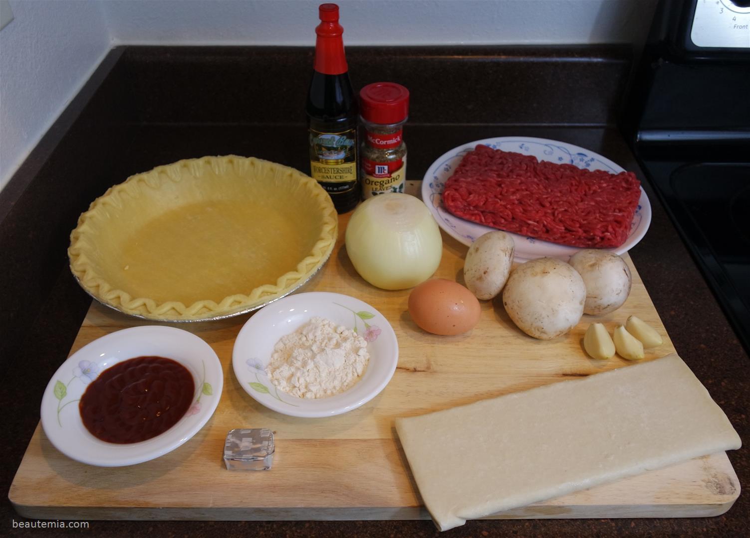 Meat pie ingredients