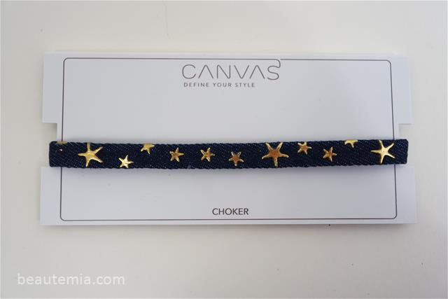 Canvas Jewelry Embellished Denim Choker