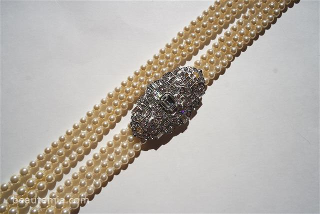 Ben-Amun Belle Epoque Imitation Pearl Multistrand Necklace