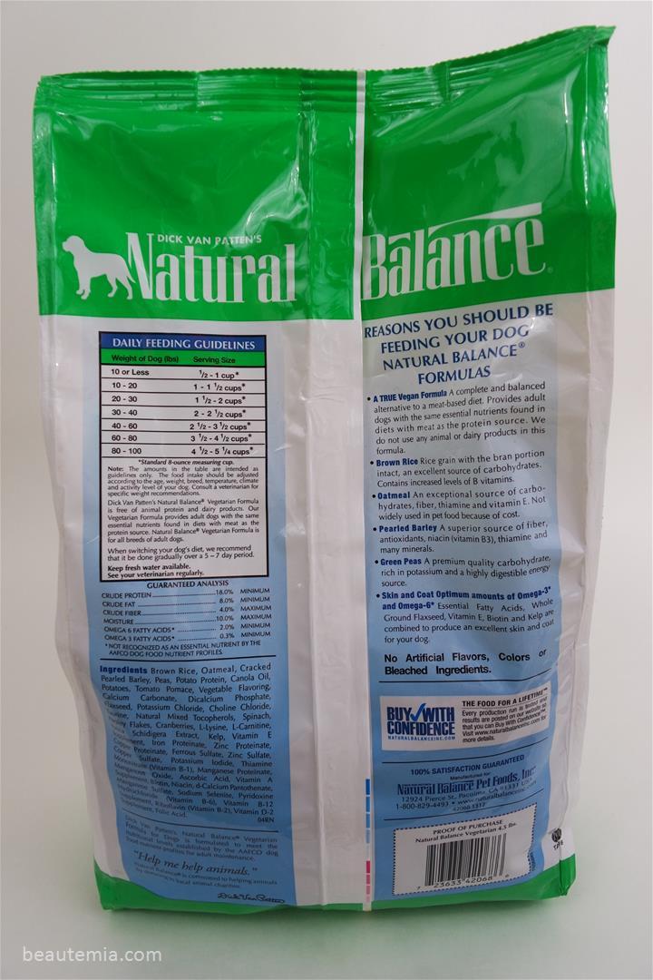 Natural balance review vegetarian formula dog food protein natural balance dry dog food vegetarian formula border collie royal canin vegan sciox Gallery