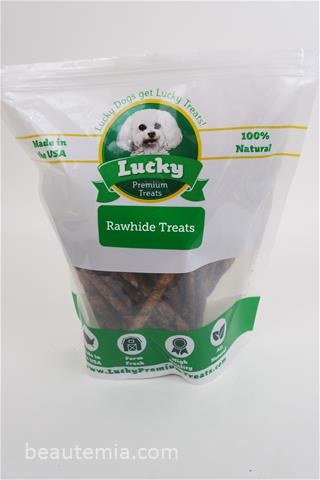Lucky Premium Treats rawhide, best rawhide chews for dogs & border collie