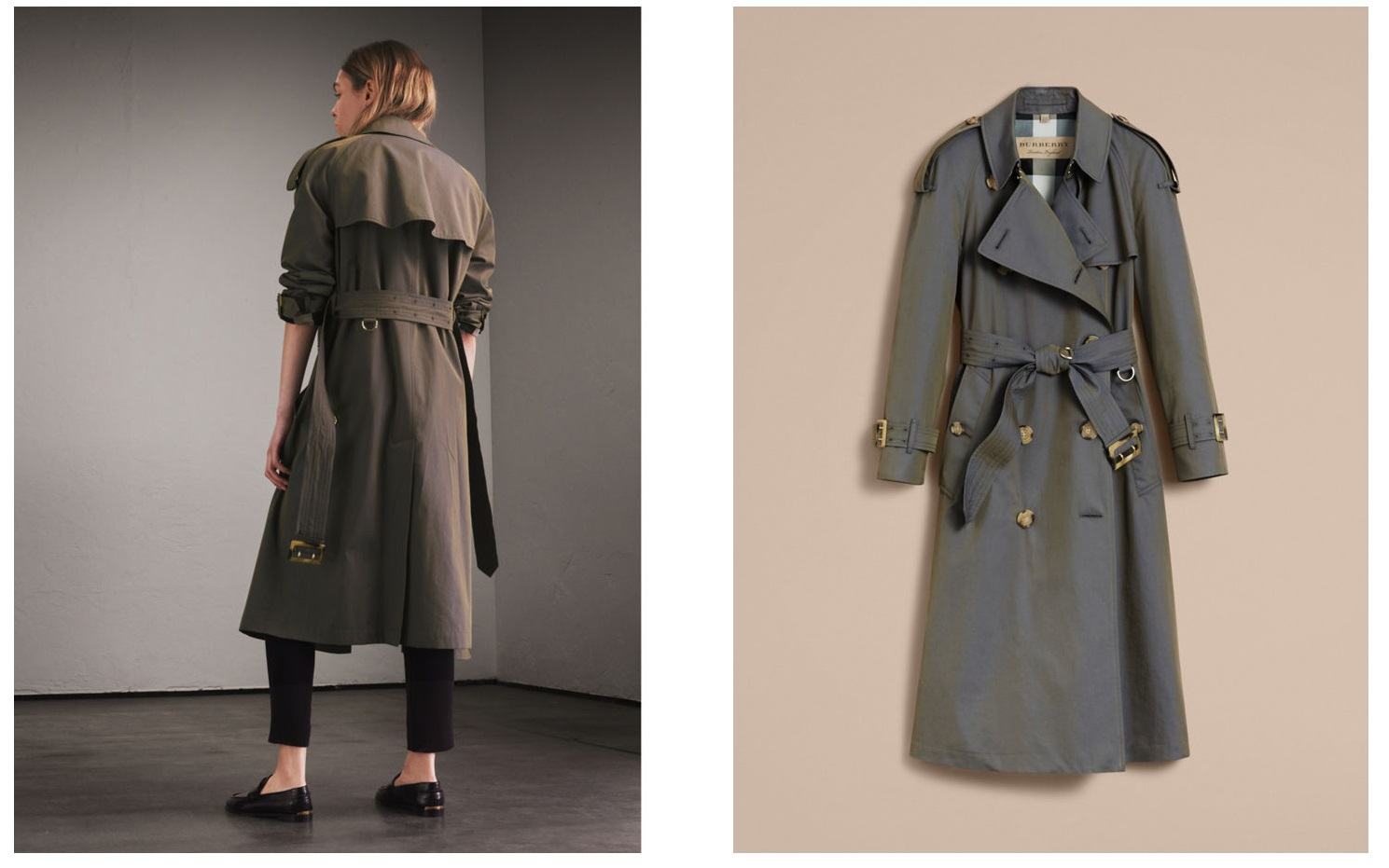 Burberry Tropical Gabardine Oversized Trench Coat, Burberry fashion, S/S collection & runway