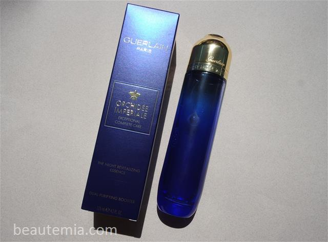 Guerlain Orchidée Impériale The Night Revitalizing Essence, Guerlain Detoxifying Essence, first essence, boosting essence, Guerlain skincare & La Prairie