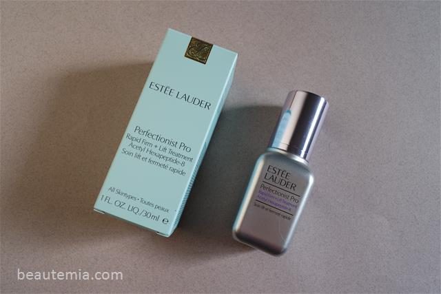 Estée Lauder skincare, Estee Lauder Perfectionist Pro Rapid Firm + Lift Treatment, Estee Lauder Perfectionist firming lifting serum, Acetyl Hexapeptide-8 skincare, Estee Lauder Re-nutriv, La Mer lifting serum & Lancome skincare