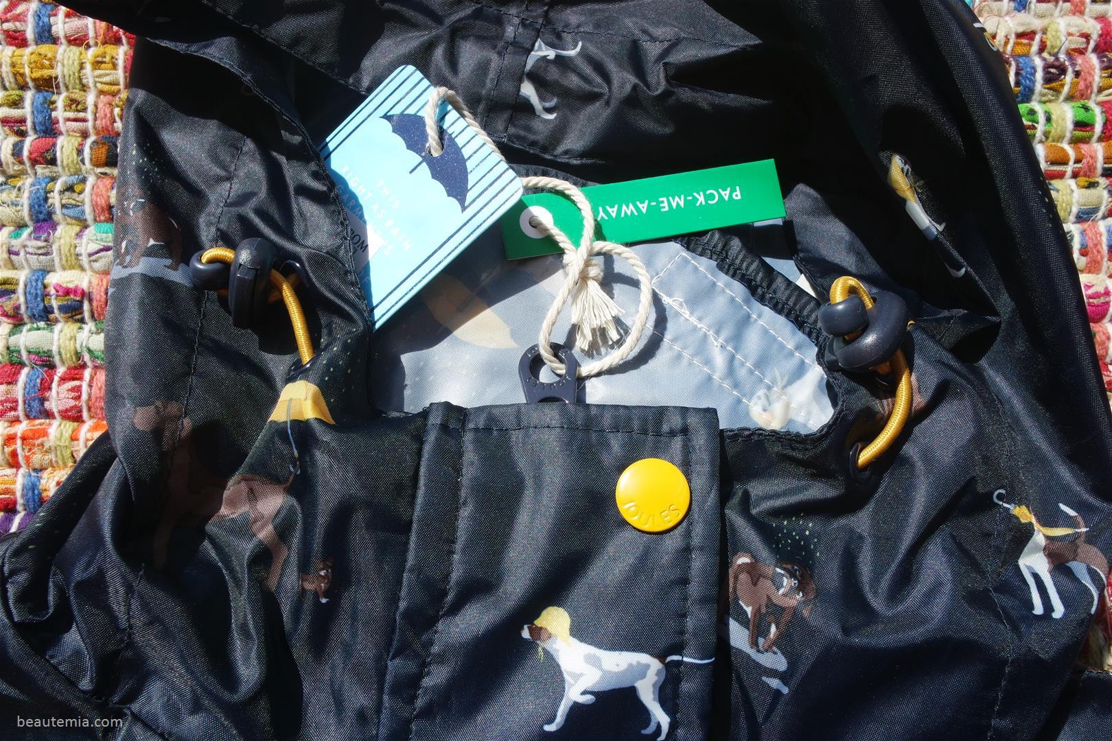 Joules Right as Rain Dog Print Hooded Raincoat, Joules rain boots, Joules raincoat, Hunter boots, Hunter rainboots, luxury rainboots, Hunter rain coat, best raincoat, Patagonia jackets, vegan raincoat & Northface raincoat
