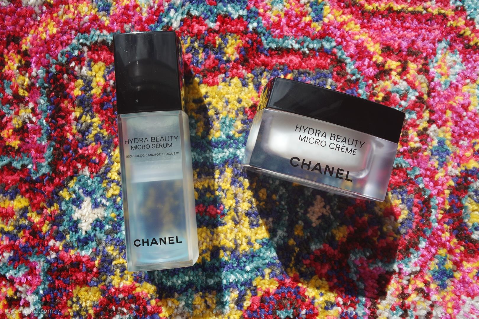 Chanel Hydra Beauty Micro Creme, Chanel Hydra Beauty Micro Serum, Chanel hydra beauty eye gel & Chanel hydra beauty mask